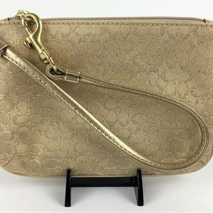Coach Mini Signature LRX Wristlet